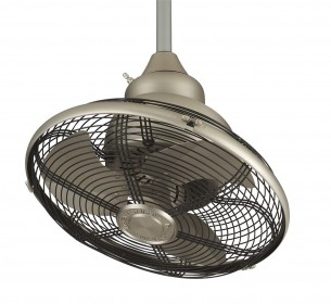 Extraordinaire Oscillating Ceiling Fan by Fanimation - OF110SN - Satin Nickel (left)