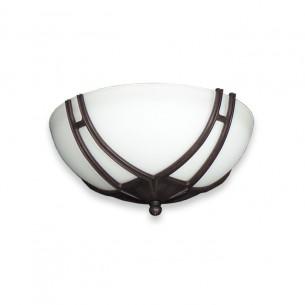 FL174 Bracketed Glass Bowl Fan Light - Oil Rubbed Bronze