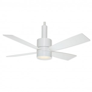 Casablanca Bullet Ceiling Fan - Snow White