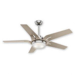 "56"" Correne Ceiling Fan - Casablacna 59197 Brushed Nickel w/ Champagne Blades"