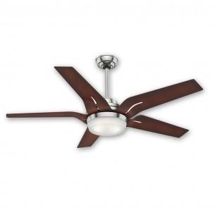 "56"" Correne Ceiling Fan - Casablacna 59197 Brushed Nickel w/ Coffee Beech Blades"