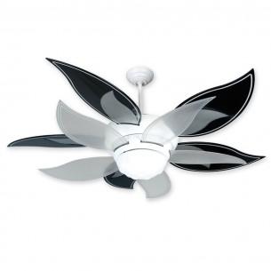 Craftmade Flower Ceiling Fan w/ Black & Translucent Blades - BL52W-BBL52BLK