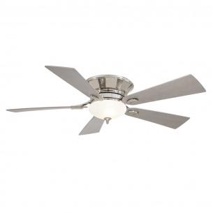 Delano II F711-PN Ceiling Fan by Minka Aire - Polished Nickel
