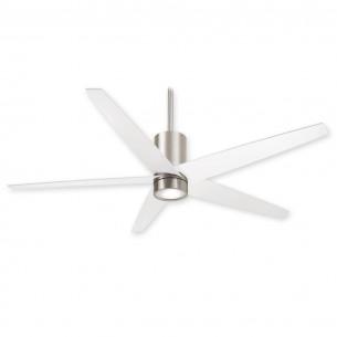Minka Aire Symbio Nickel w/ White Blades - F828-BN/WH