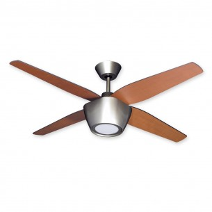 """52"""" Fresco Ceiling Fan - Brushed Nickel w/ Natural Cherry Blades"""
