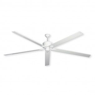 """Hercules by TroposAir 96"""" Ceiling Fan - Pure White Finish"""