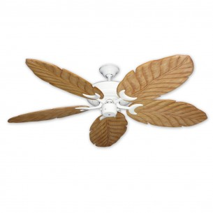 100 Series Raindance Ceiling Fan - Pure White - Maple Blades