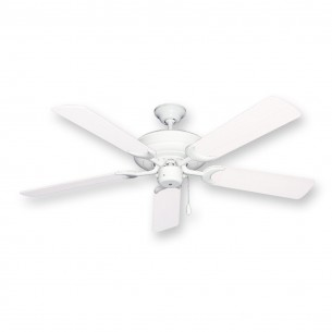 Raindance Outdoor Ceiling Fan - Pure White Blades