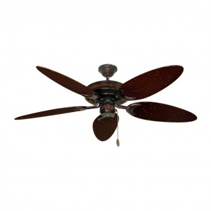 Raindance Bamboo Palm Ceiling Fan - Wine Blades (bamboo side shown)