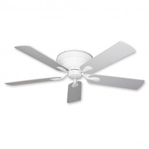 Stratus Flush Mount Ceiling Fan - Pure White Finish
