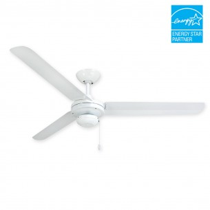 "56"" Tornado Ceiling Fan - Pure White Outdoor Fan by TroposAir"