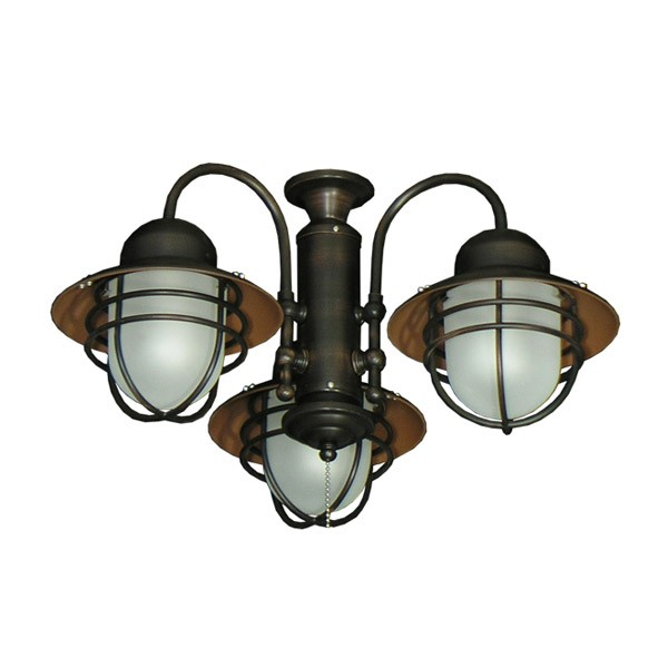 362 Nautical Styled Outdoor Ceiling Fan Light Kit - 3 Finish Choices ...
