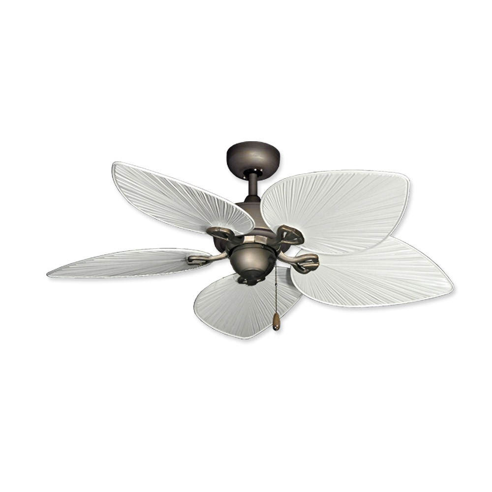 Tropical Ceiling Fans : Inch tropical ceiling fan small antique bronze bombay