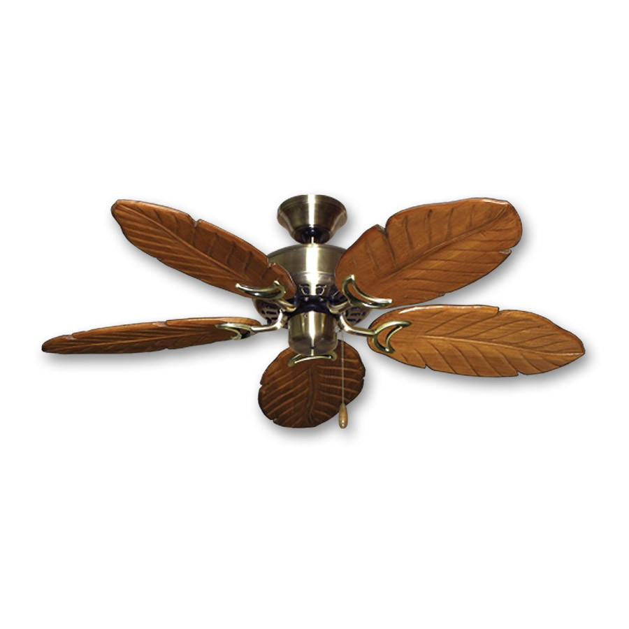 42 Hawaiian Ceiling Fan Antique Brass Finish