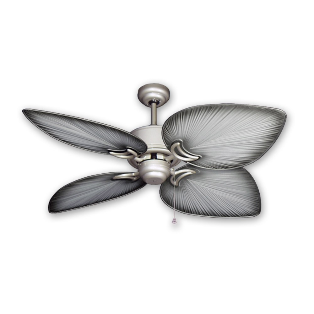 Tropical Ceiling Fans : Outdoor tropical ceiling fan brushed nickel bombay by
