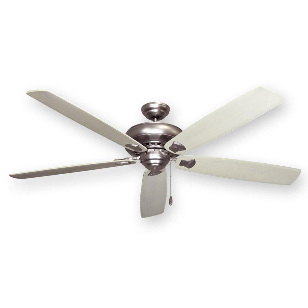"""Satin Steel 750 Series Tiara Ceiling Fan 72"""" by Gulf"""