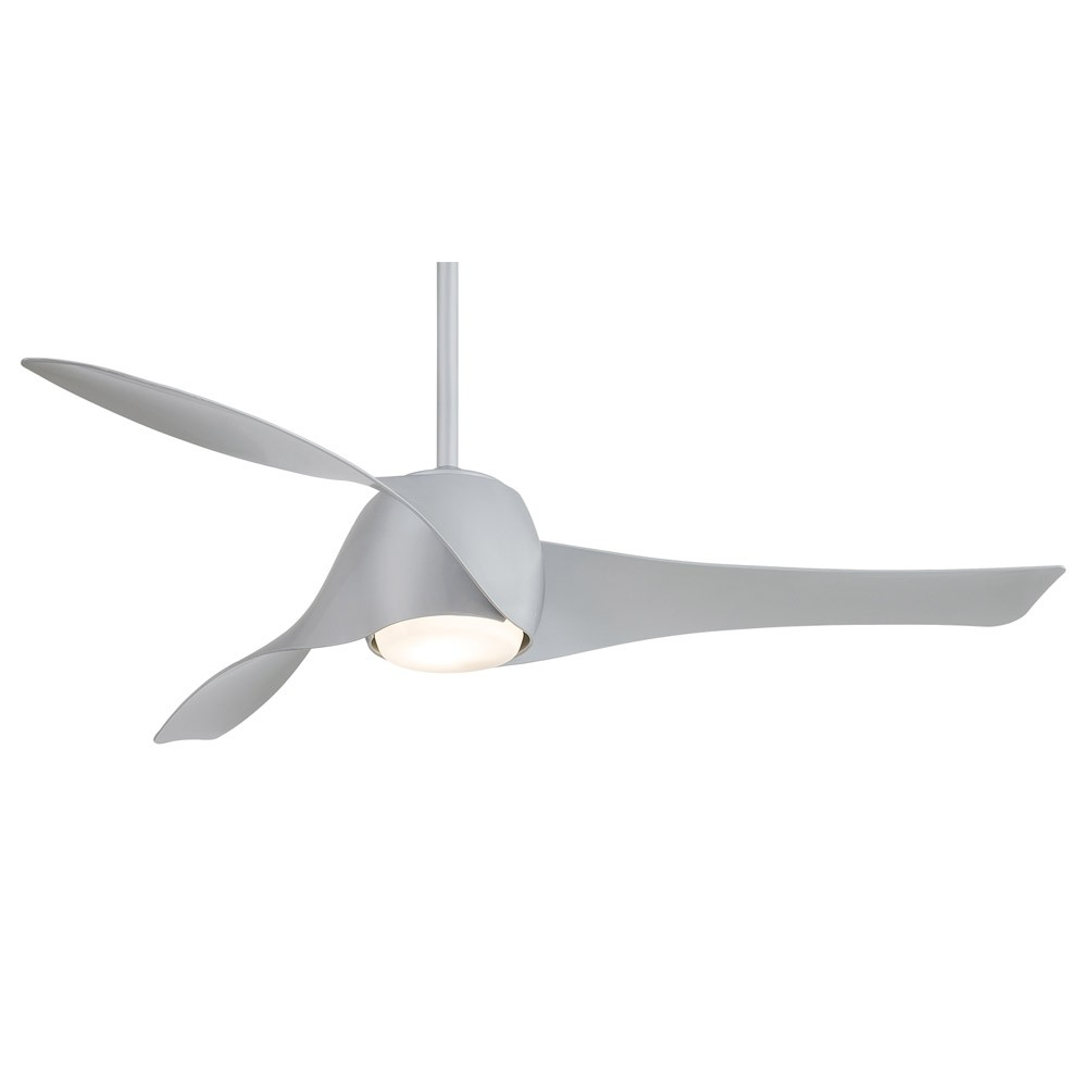 Artemis Ceiling Fan by Minka Aire 58 Inch Silver Fan