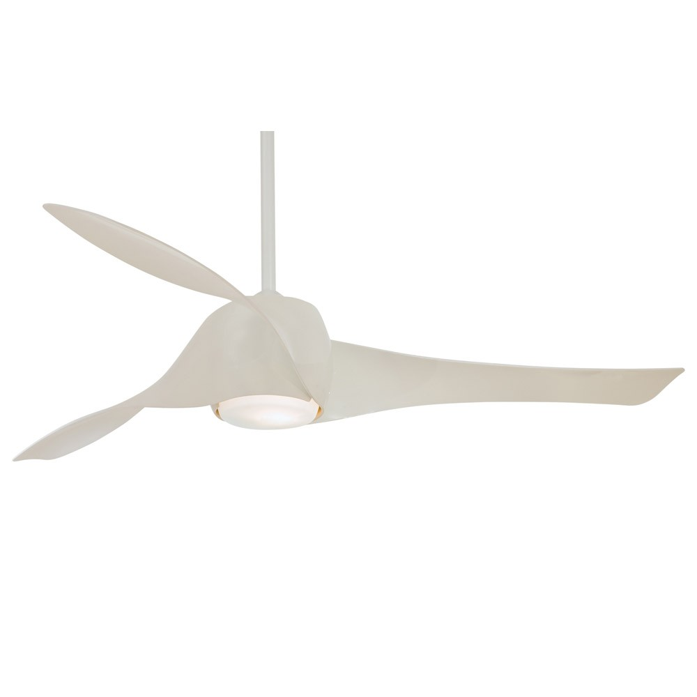 Artemis ceiling fan by minka aire 58 inch white fan Modern white ceiling fan