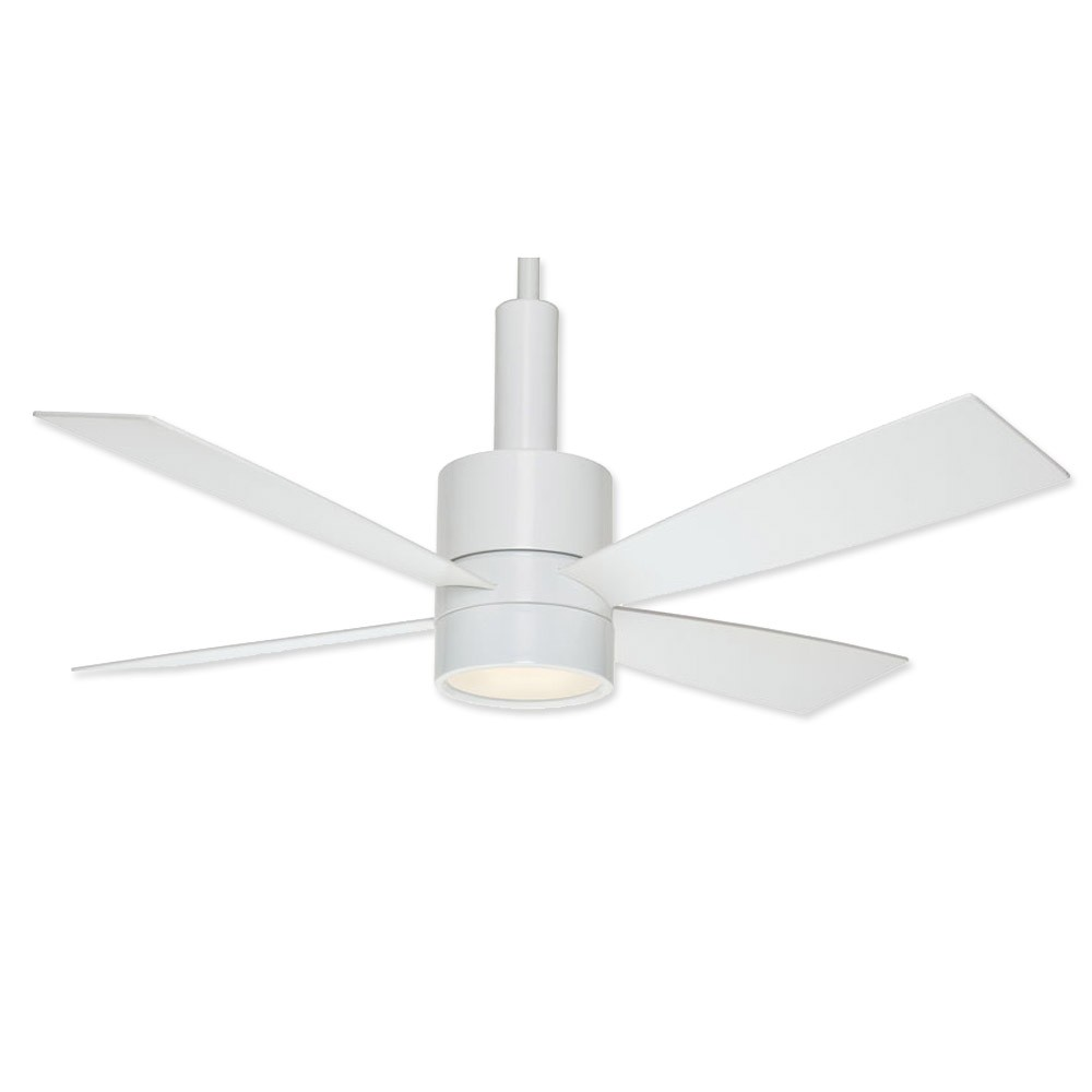 Casablanca 59070 bullet ceiling fan snow white finish Modern white ceiling fan