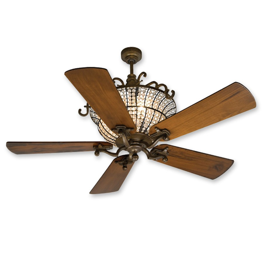 56u0026quot; Craftmade Cortana CR52PR Ceiling Fan - DC Motor w/ Uplight - Oak Blades
