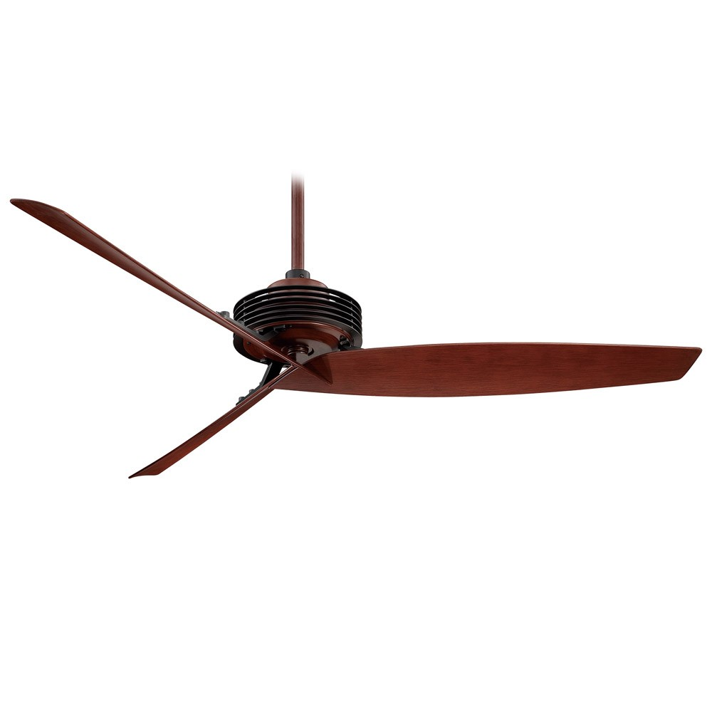 "Home > 62"" Gilera Ceiling Fan by Minka Aire - F733-BK/RW - Black and ..."