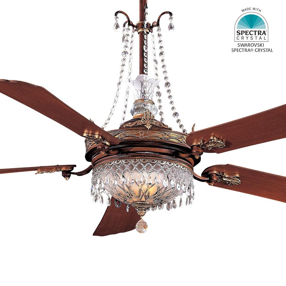 """Crystal Ceiling Fan: Minka Aire Cristafano Ceiling Fan F900-BCW 68"""" Fan"""