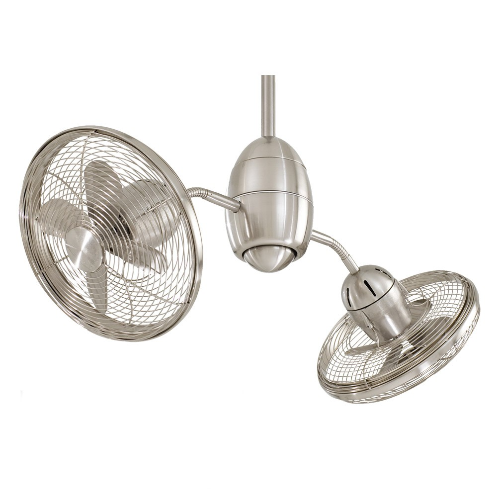 Small Fan With Light Part - 21: Gyrette By Minka Aire - Brushed Nickel