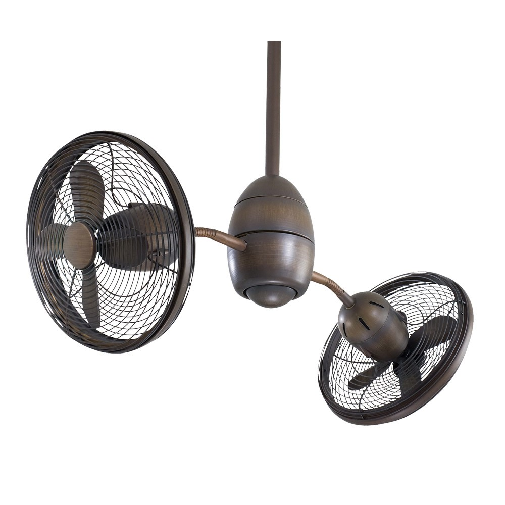 Small Fan With Light Part - 41: Minka Aire Gyrette - Restoration Bronze Finish