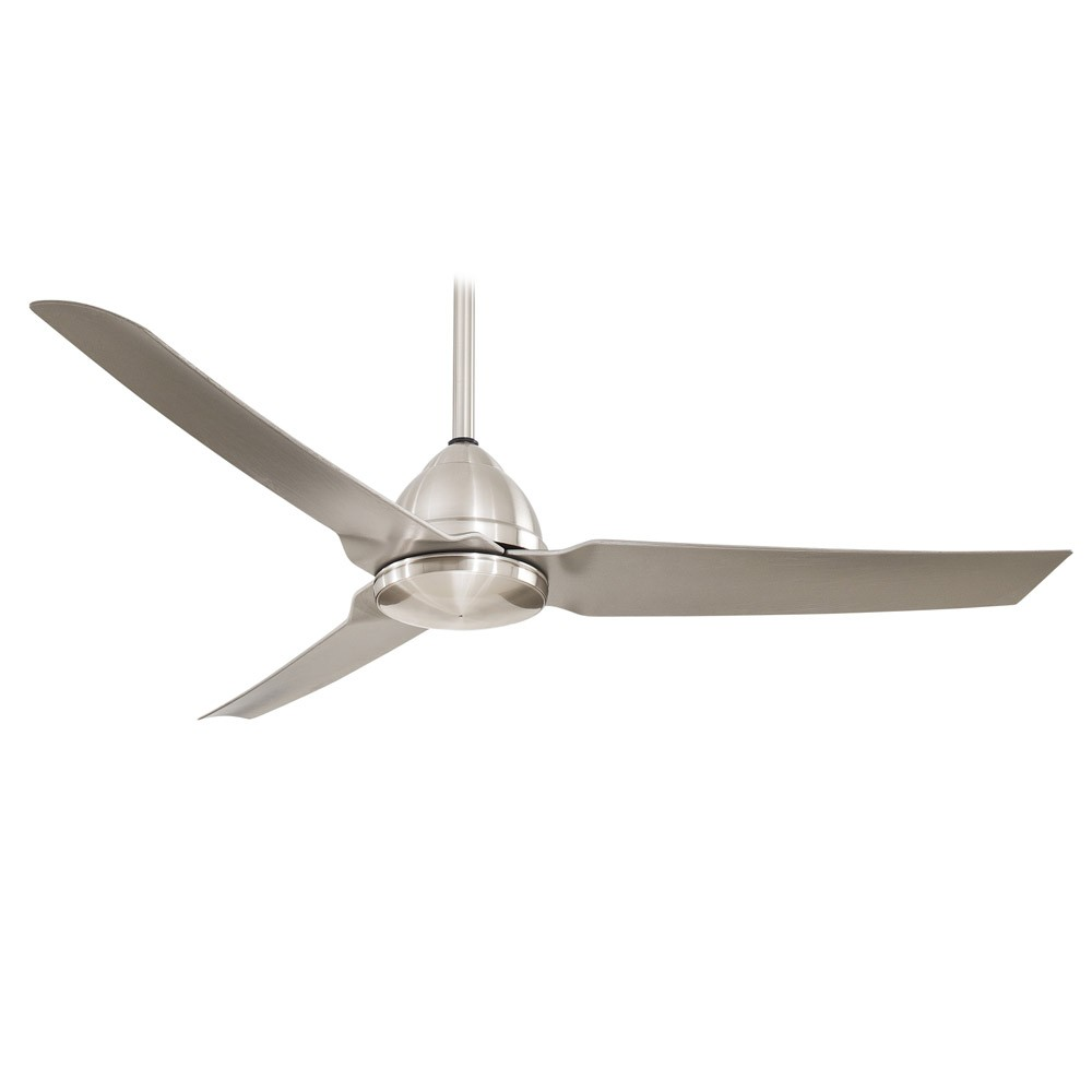 54 Quot Minka Aire Java Brushed Nickel Wet Ceiling Fan F753
