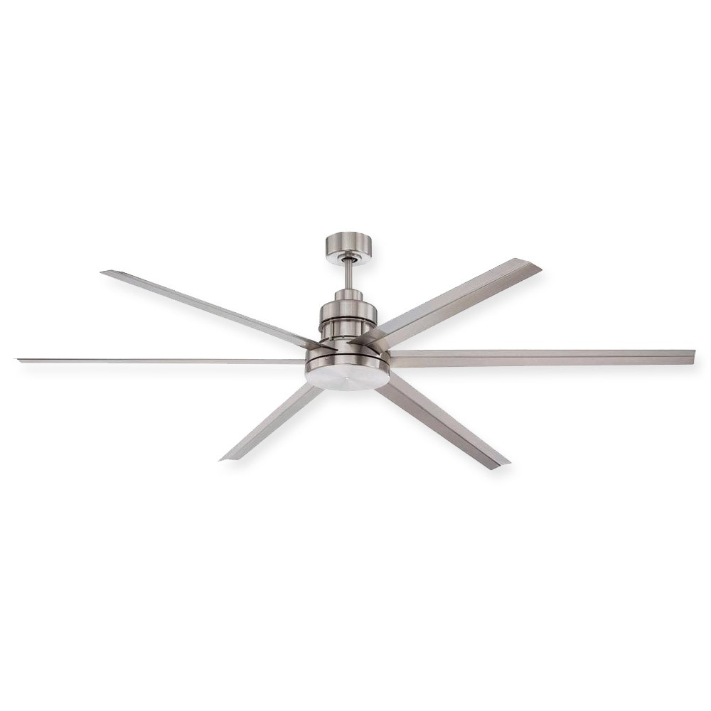 Craftmade 72u0026quot; Mondo Ceiling Fan- MND72BNK6 - Industrial Damp Rated - Remote Included Modern Fan ...