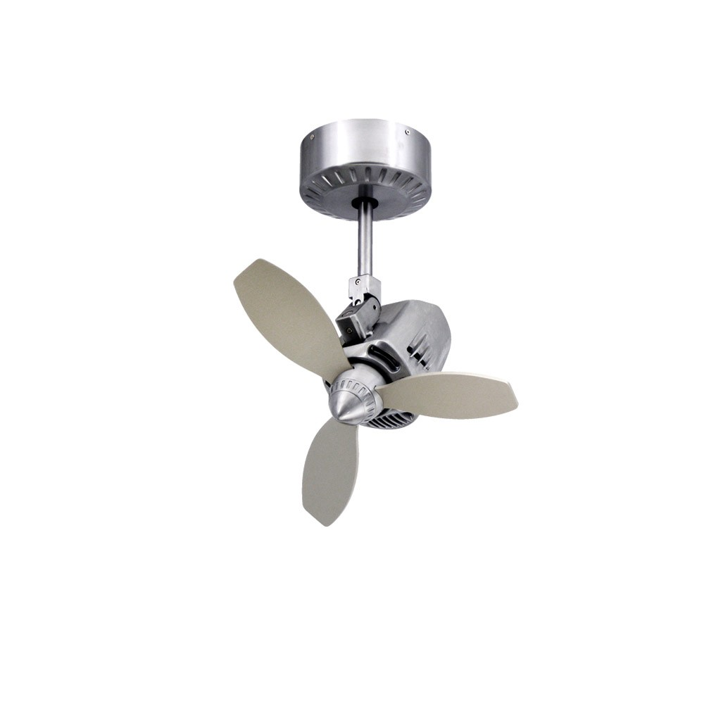 Home > Mustang Oscillating Ceiling Fan by TroposAir - Brushed Aluminum ...