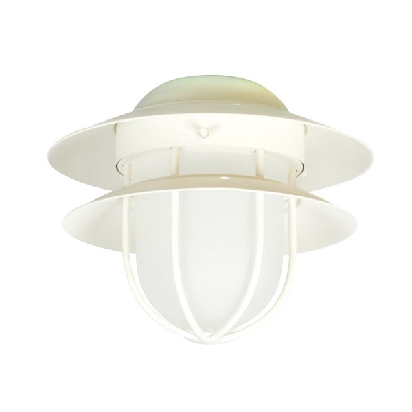 Olk67cfl Indoor Outdoor Ceiling Fan Light Nautical Style W Frosted Glass 3 Finishes Modern