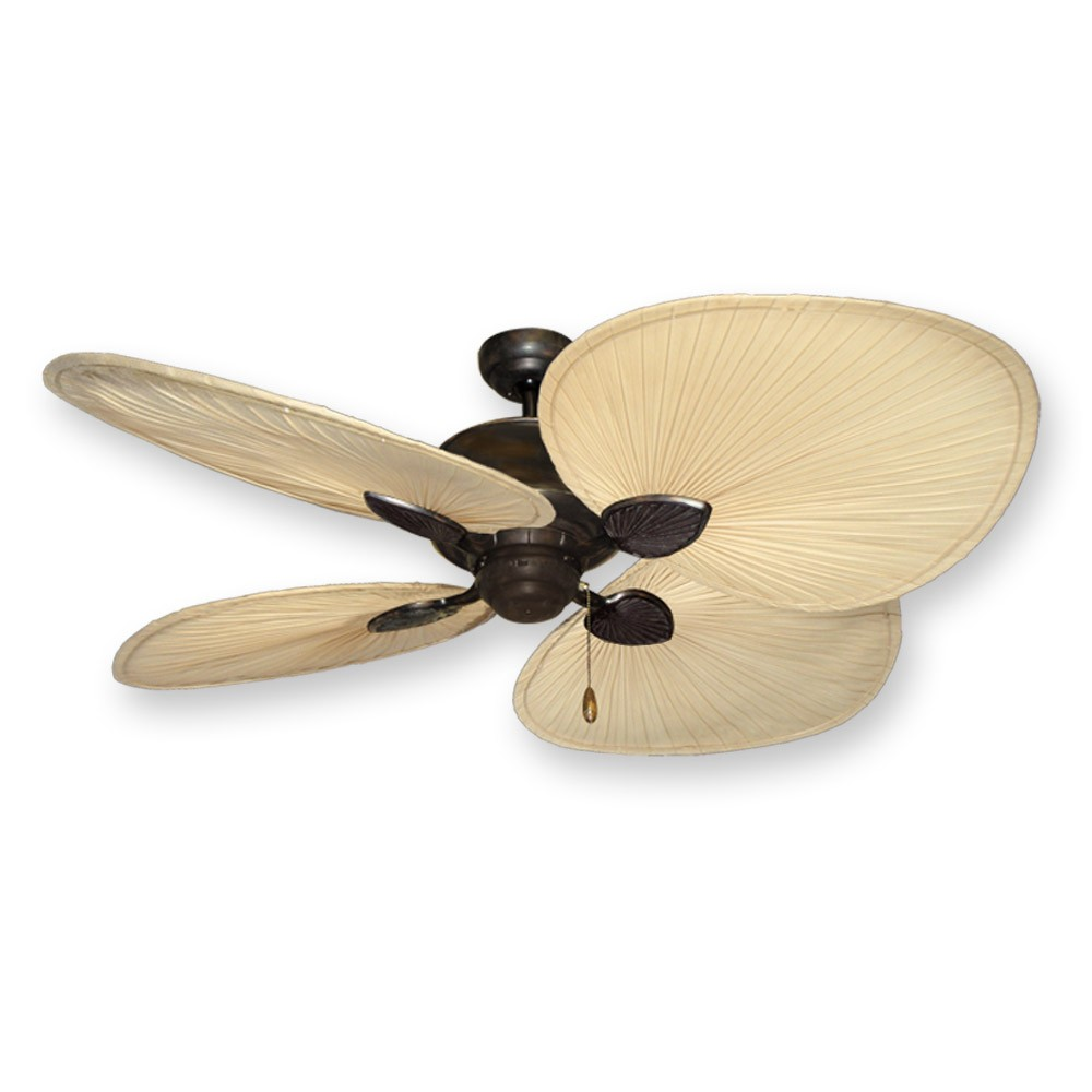 "56"" Palm Blade Ceiling Fan - Gulf Coast Palm Breeze II in Oil Rubbed ..."