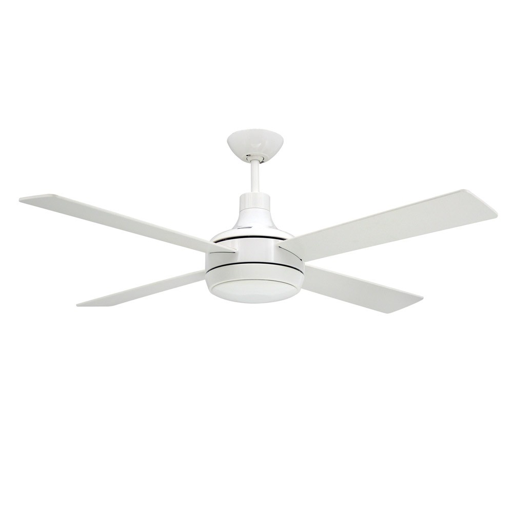 Quantum Ceiling By TroposAir Fans Pure White Finish With