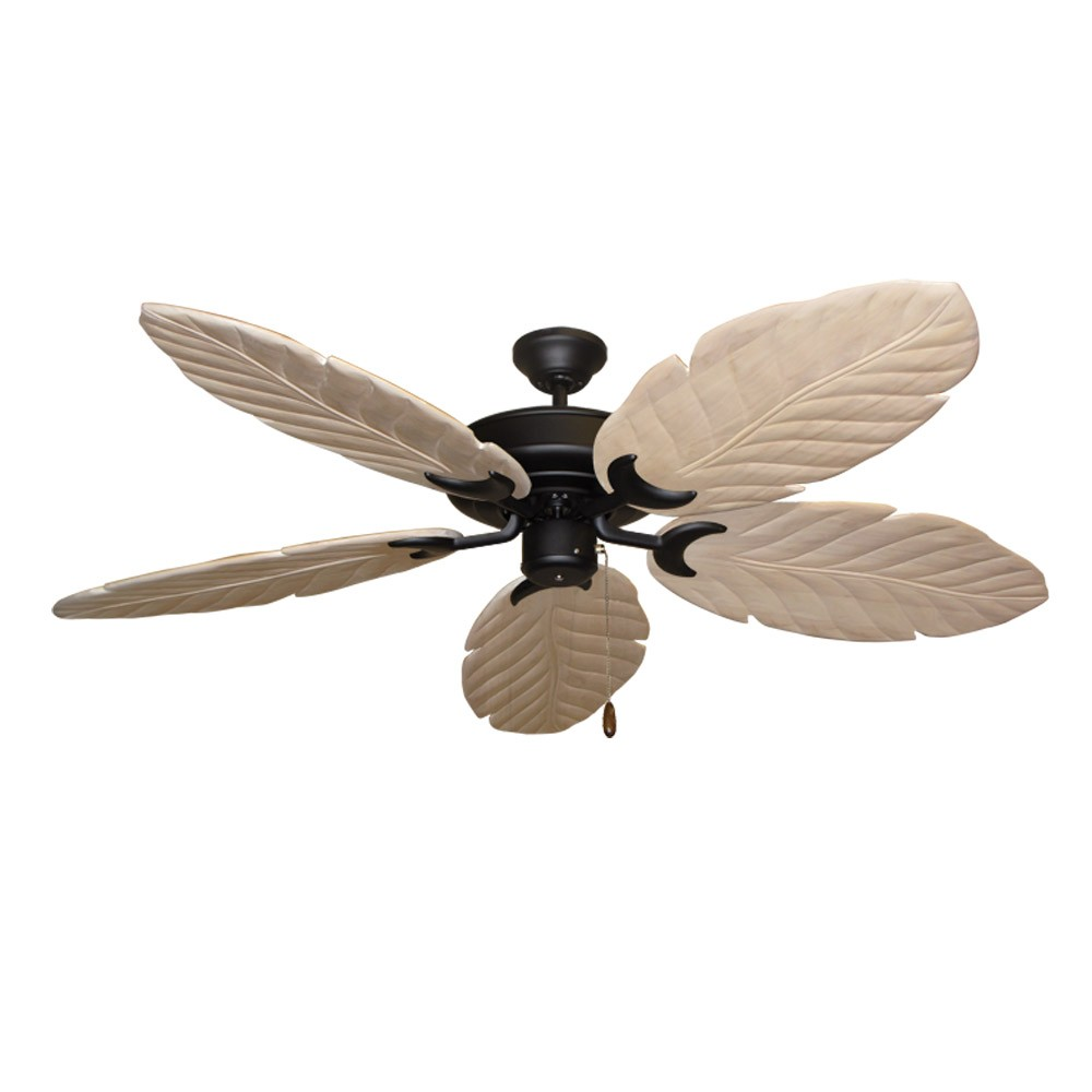 Raindance Matte Black 100 Series Ceiling Fan Real Wood