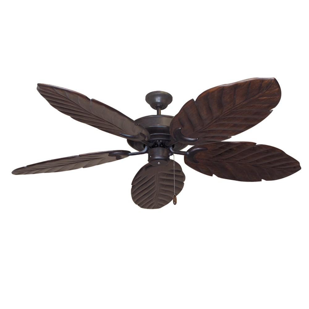 Tropical Ceiling Fans | Hawaiian Style | Island Look by Modern Fan ...:100 Series Raindance Ceiling Fan Oil Rubbed Bronze - Dark Walnut Blades,Lighting