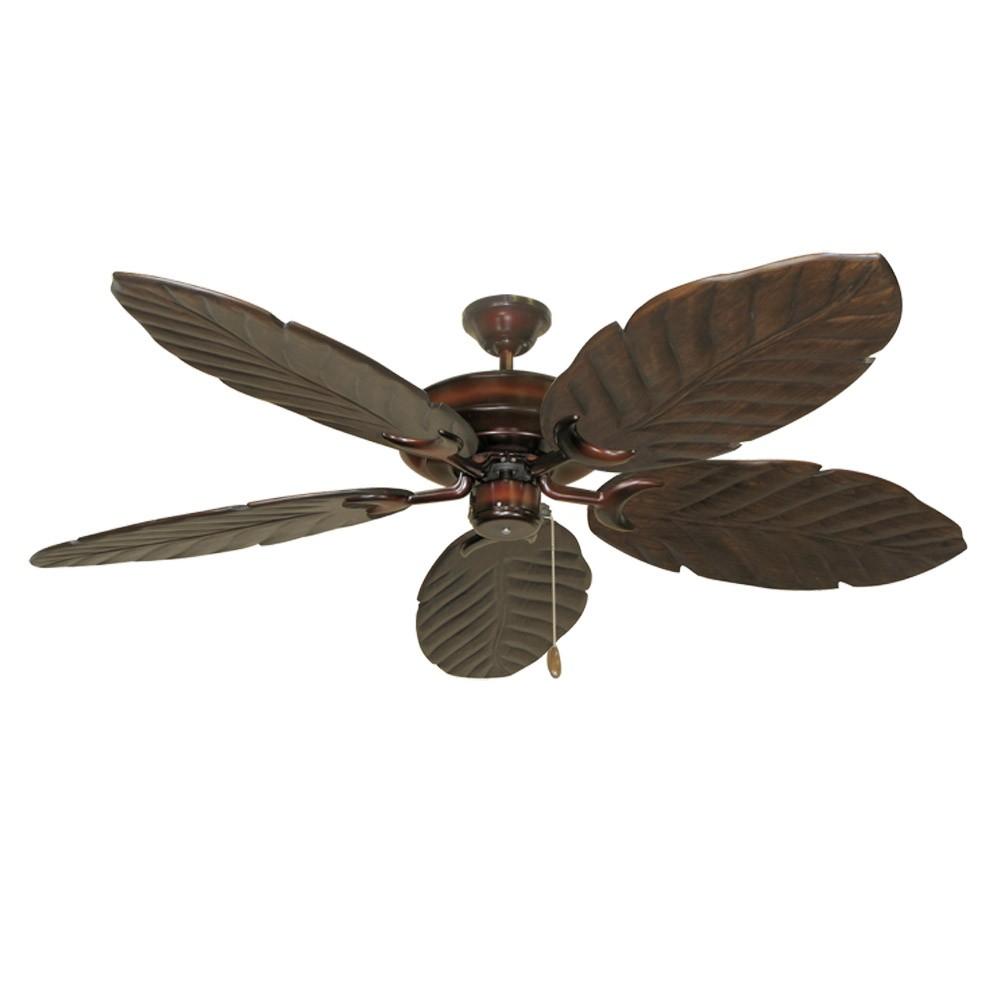 Wine Raindance 100 Series Ceiling Fan Real Wood Carved