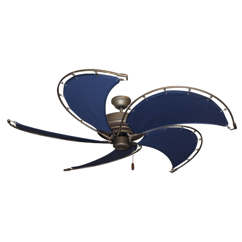Gulf Coast Nautical Raindance Ceiling Fan - Antique Bronze Motor Sail ...