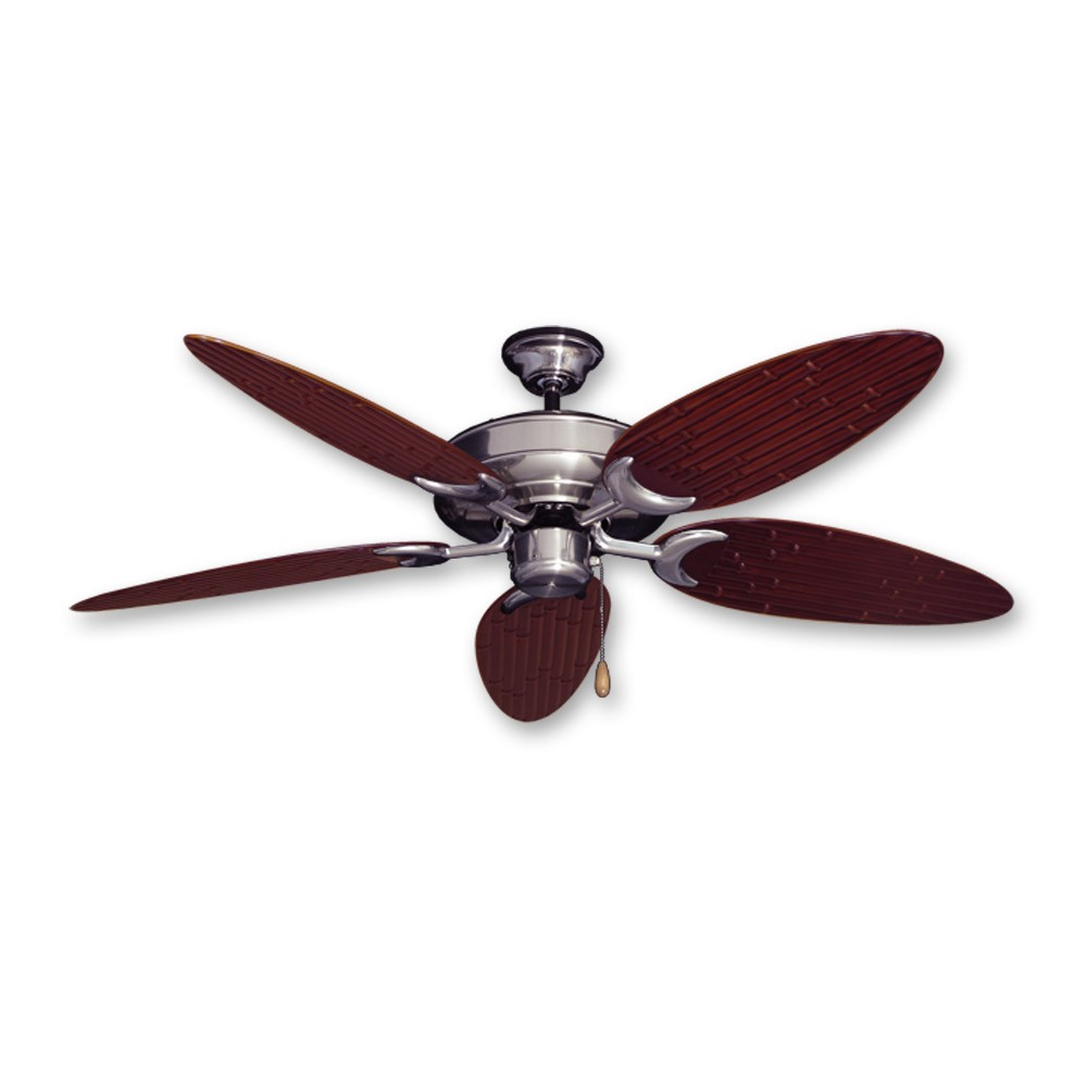 Bamboo Ceiling Fan - Raindance Brushed Nickel - Customize with 12 ...