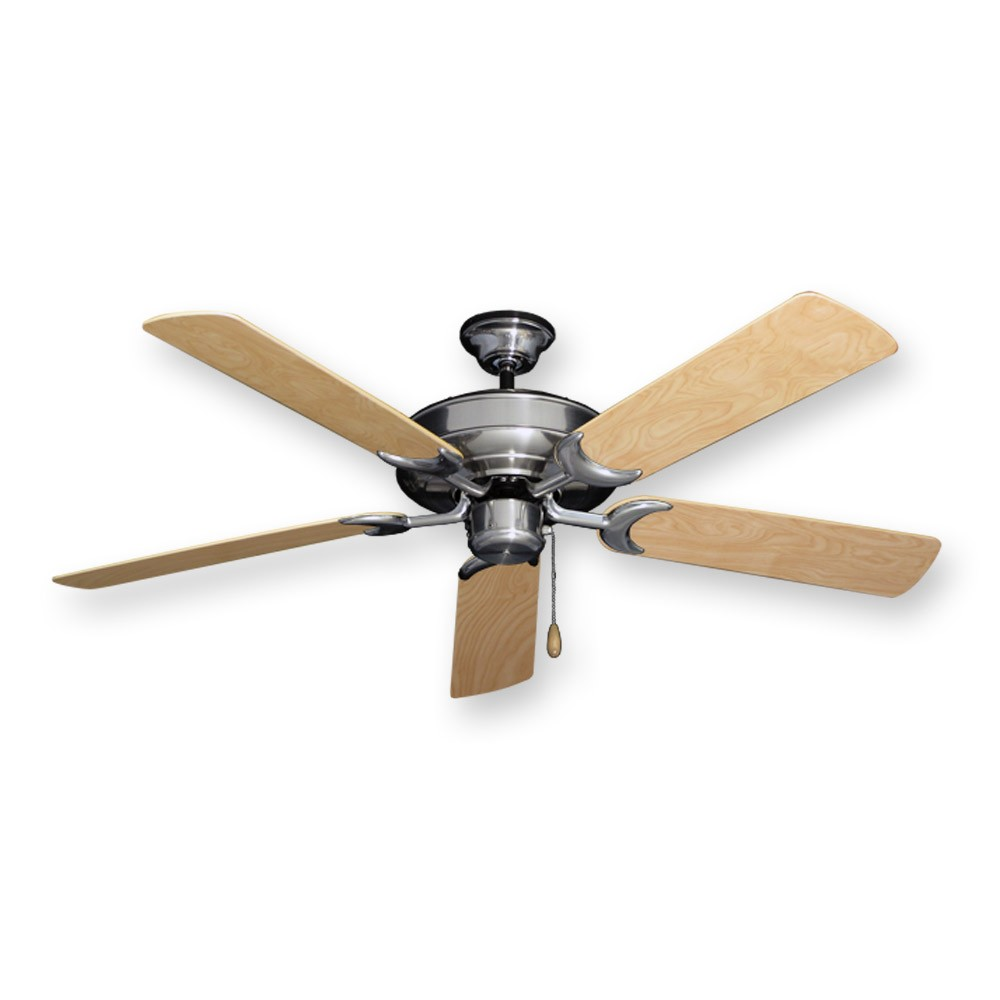 Raindance Outdoor Ceiling Fan In Brushed Nickel W 52