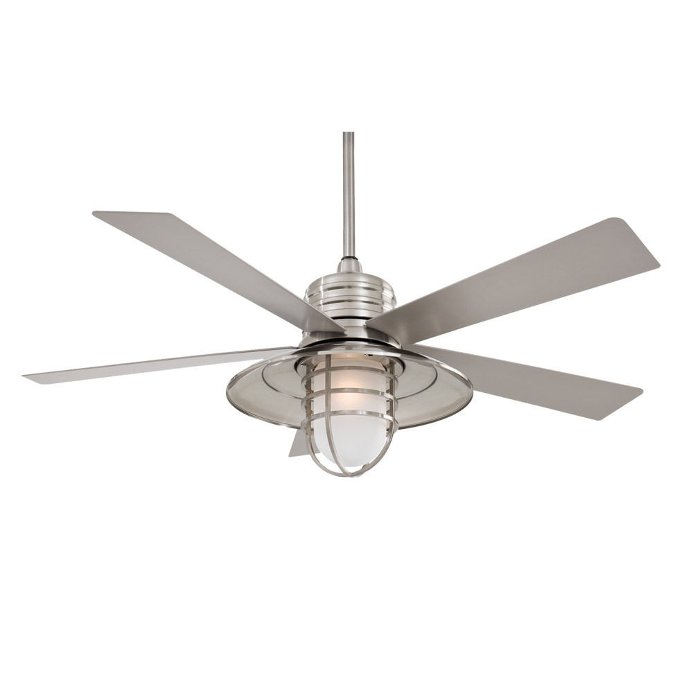 54 minka aire rainman ceiling fan outdoor wet rated for Exterior light fan