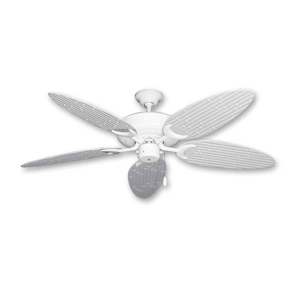 Bamboo Ceiling Fan Raindance Pure White Customize With