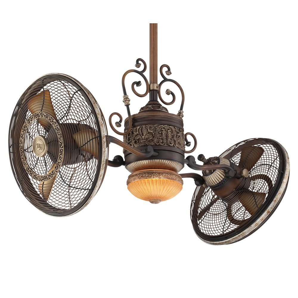 Minka Aire Traditional Gyro Ceiling Fan F502 BCW 42