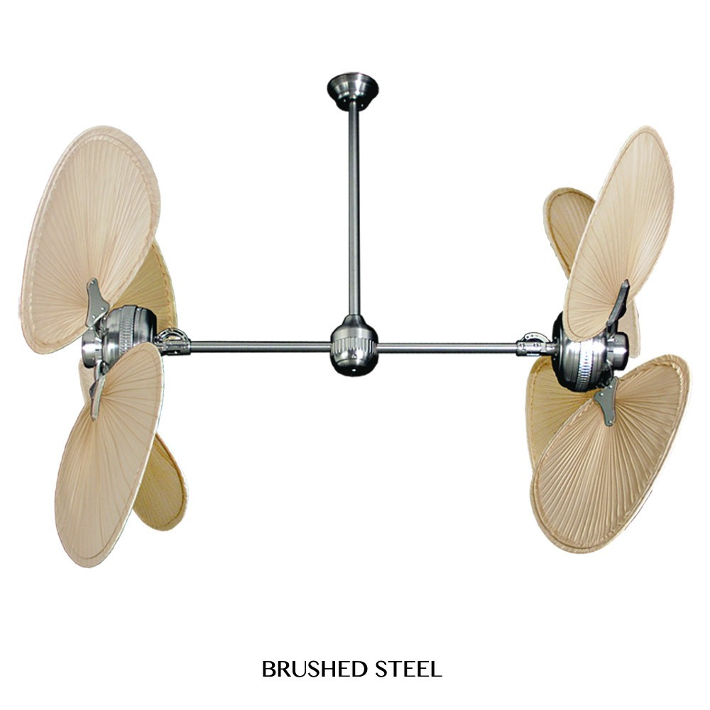 ... Star II Tropical Palm Leaf Double Motor Ceiling Fan by Gulf-Coast Fans