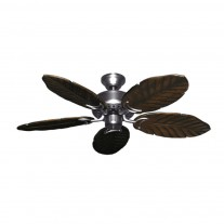 "42"" Hawaiian Ceiling Fan - Satin Steel Dixie Belle 150 Series - Sealed Solid Wood Blades"