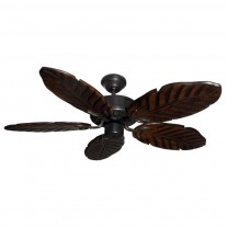 "42"" Indoor/Outdoor Tropical Ceiling Fan - Oiled Bronze Dixie Belle 150 Series - Sealed Solid Wood Blades"