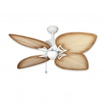 "50"" Gulf Coast Bombay - Pure White Tropical Ceiling Fan w/ 3 Blade Finishes"