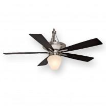 """Casablanca C42G45L, 60"""" Brushed Nickel Ceiling Fan w/ Light"""