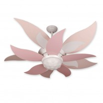 "52"" Craftmade Bloom Ceiling Fan w/ Pink Blades BL52W BBL52-PNK"