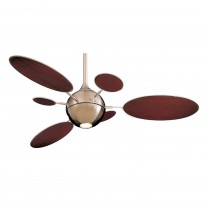 "54"" Cirque Ceiling Fan by Minka Aire Fans - F596-BN With FB196-MG Mahogany Blades"